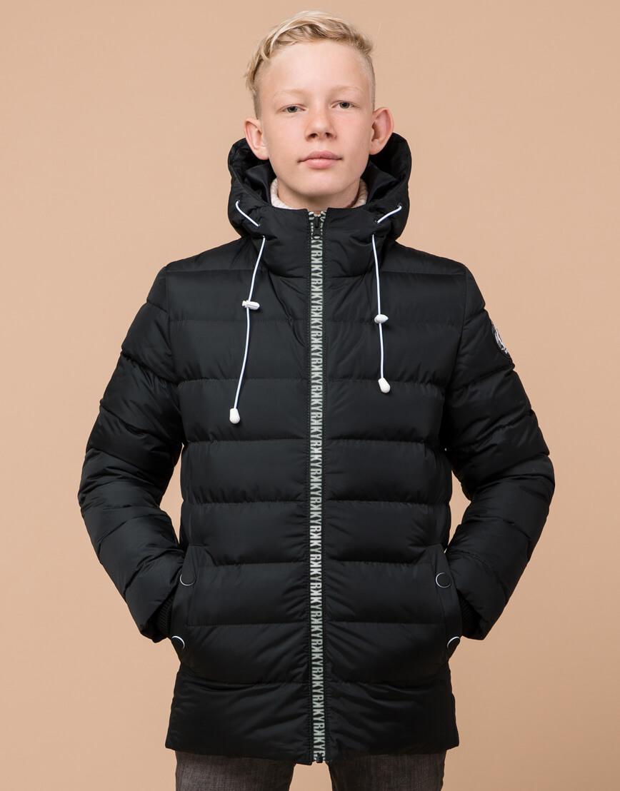 Графитовая куртка детская модная модель 65028 фото 2