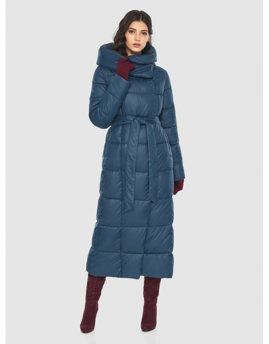 Брендовая женская синяя куртка Vivacana 8706/21 фото 1
