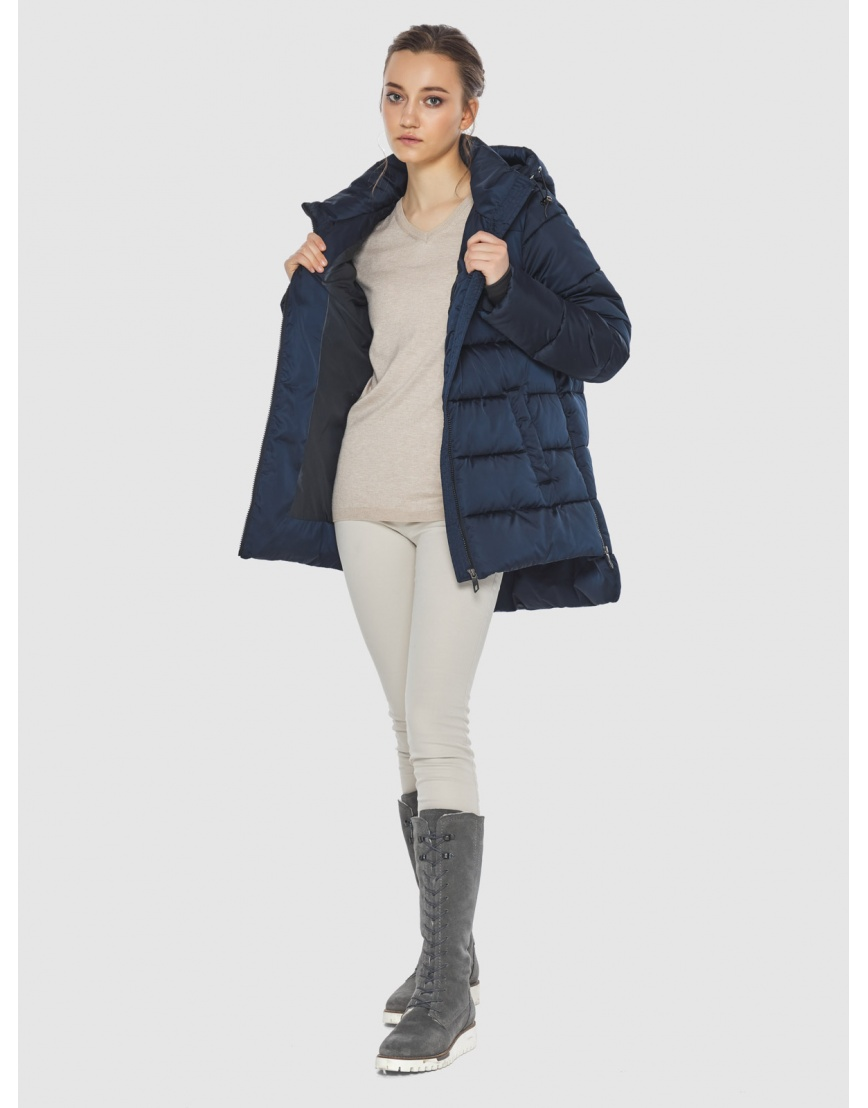Синяя короткая женская куртка Wild Club 526-85 фото 2