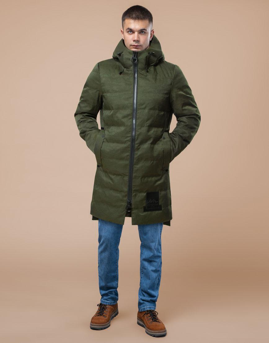 Мужская парка зимняя практичная цвета хаки модель 25800 фото 1