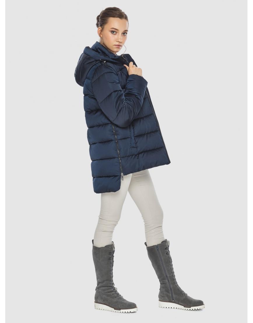 Синяя короткая женская куртка Wild Club 526-85 фото 3
