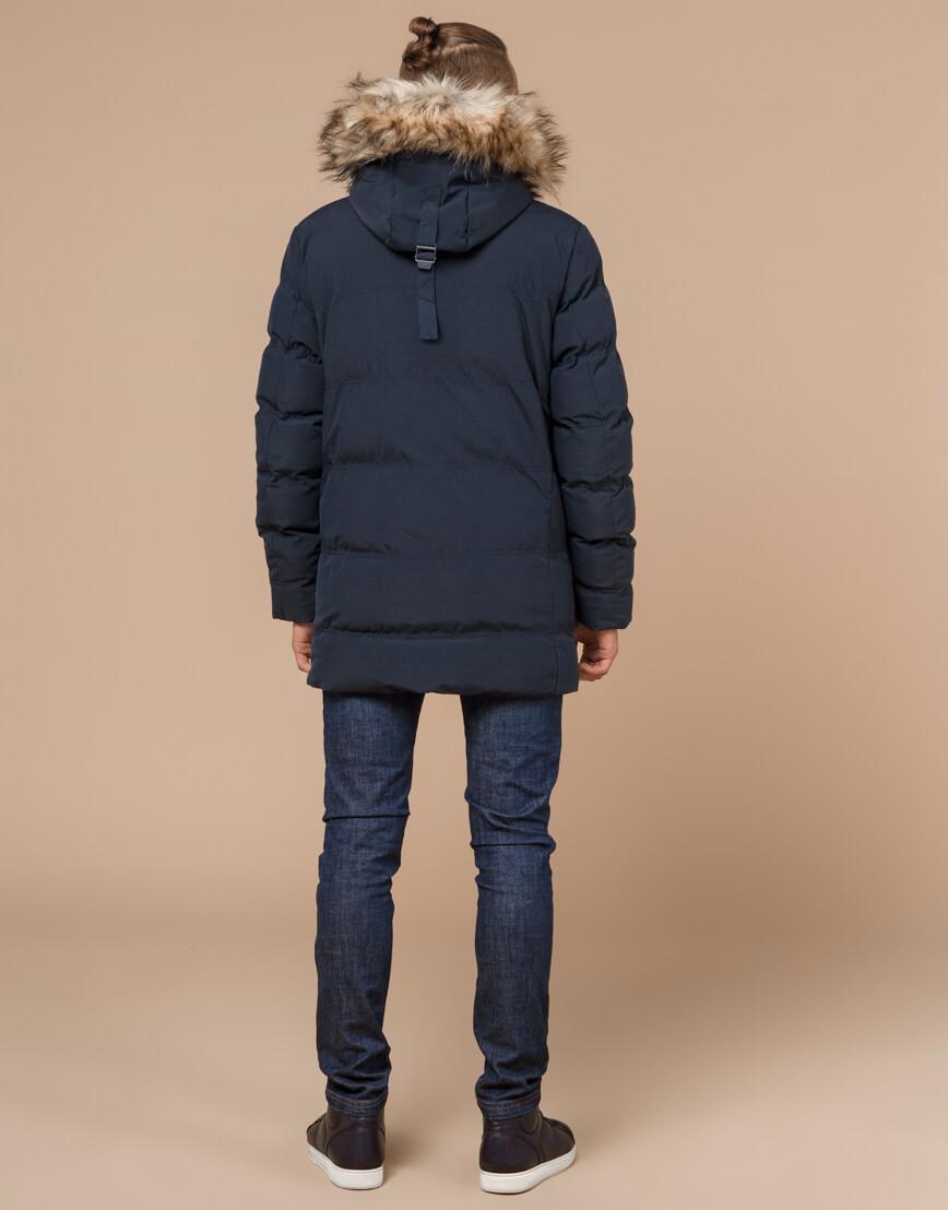 Синяя куртка мужская зимняя оригинальная модель 25230