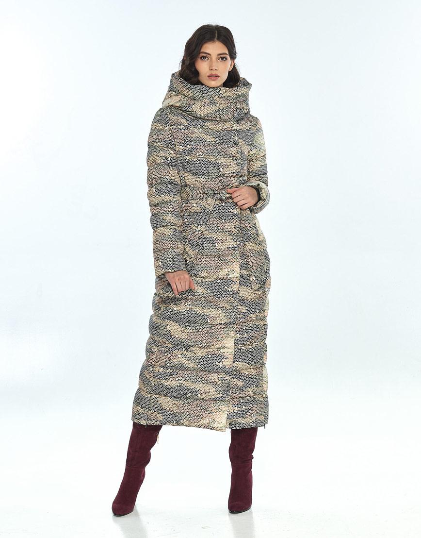 Куртка с рисунком женская Vivacana удобная зимняя 8320/21 фото 1
