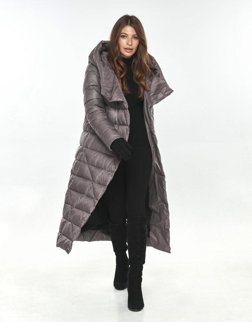 Стильная пудровая куртка большого размера женская Ajento 23795 фото 2