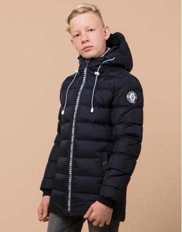 Сине-черная куртка детская стильная модель 65028