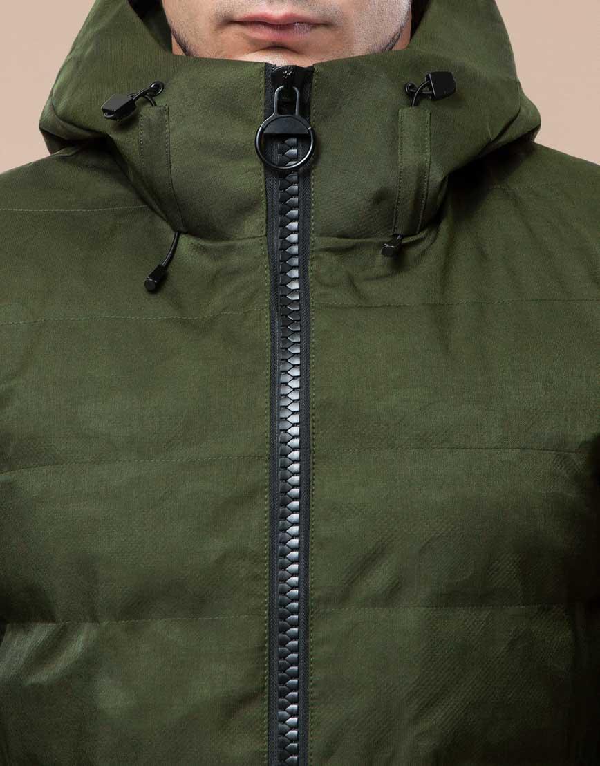 Мужская парка зимняя практичная цвета хаки модель 25800 фото 5