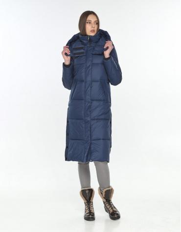 Длинная женская синяя куртка Wild Club зимняя 534-23 фото 1