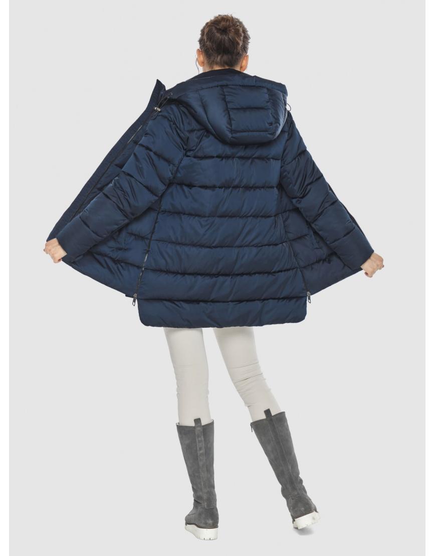 Синяя короткая женская куртка Wild Club 526-85 фото 4