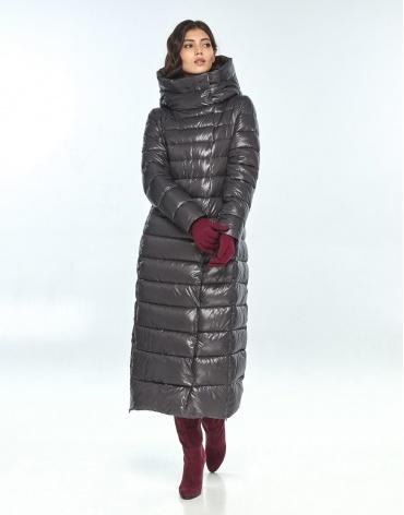Куртка большого размера фирменная женская Vivacana серая 8320/21 фото 1