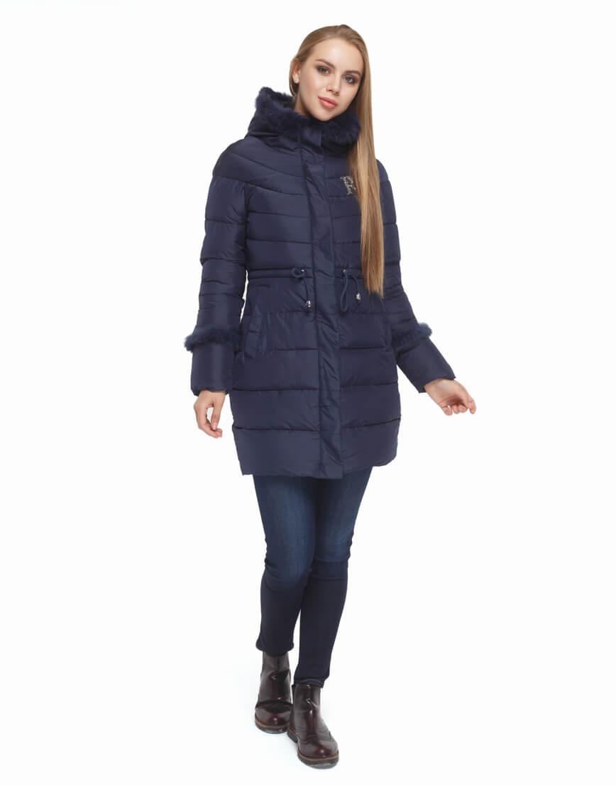 Куртка синего цвета качественная модель 2003 фото 1