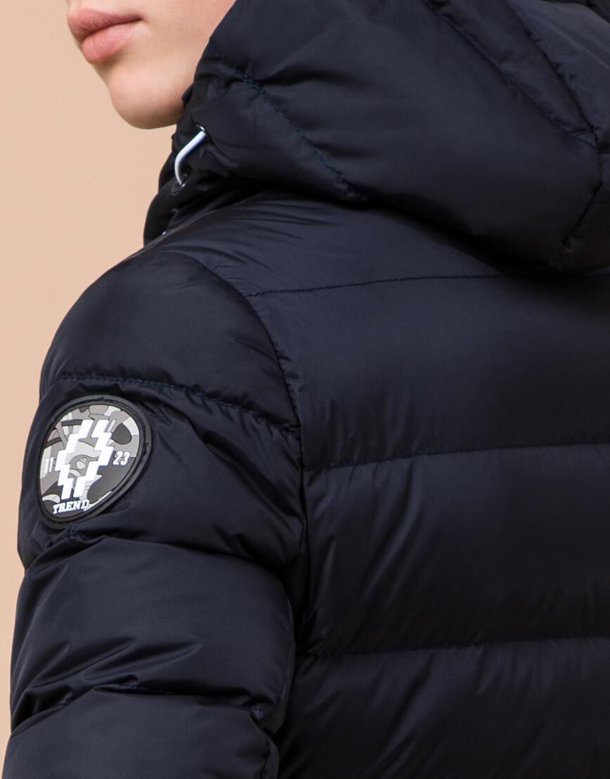 Сине-черная куртка детская стильная модель 65028 фото 7