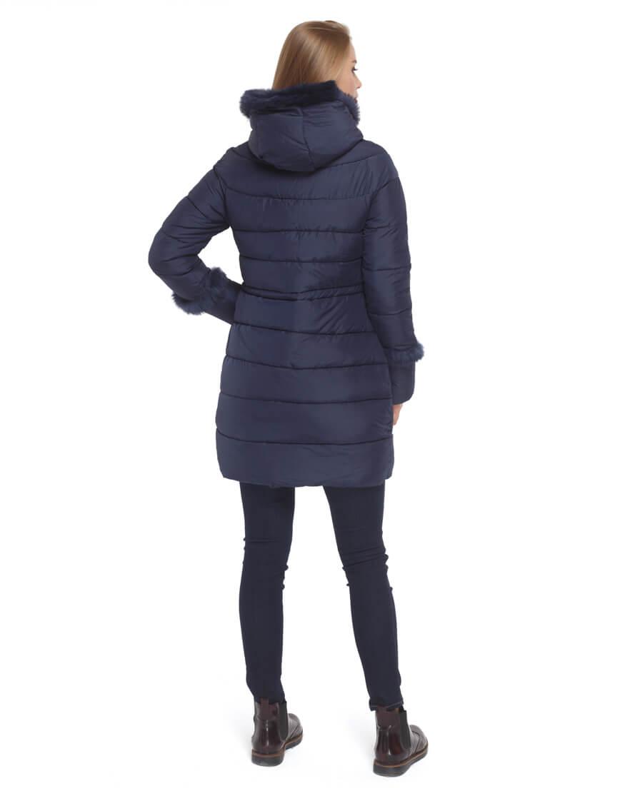 Куртка синего цвета качественная модель 2003 фото 4