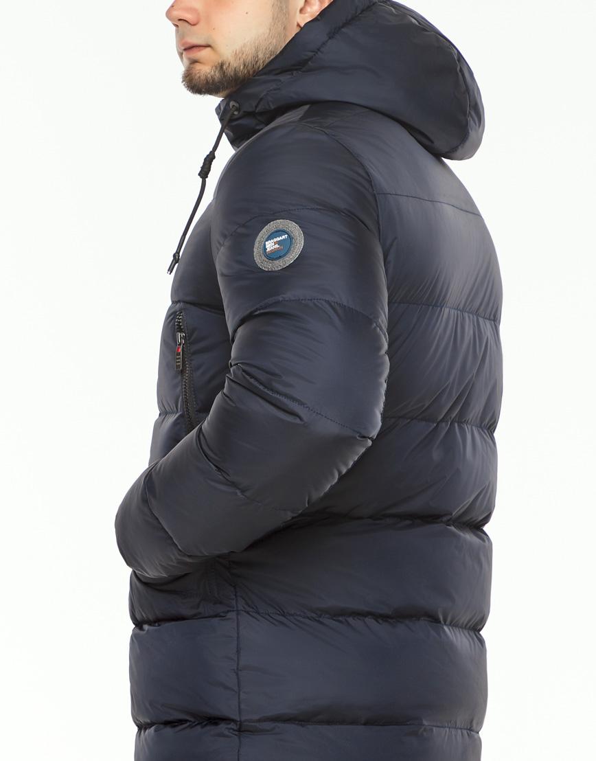 Теплая куртка мужская темно-синего цвета модель 37485 фото 6