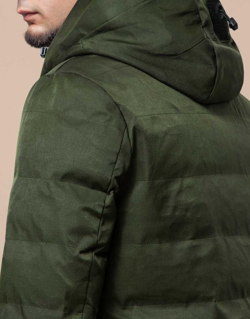 Мужская парка зимняя практичная цвета хаки модель 25800 фото 7