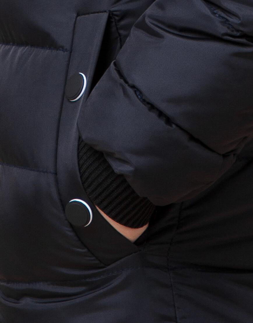 Сине-черная куртка детская стильная модель 65028 фото 6
