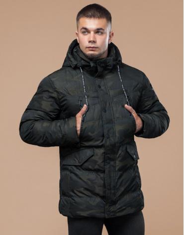 Молодежная зимняя темно-зеленая куртка модель 25140 фото 1