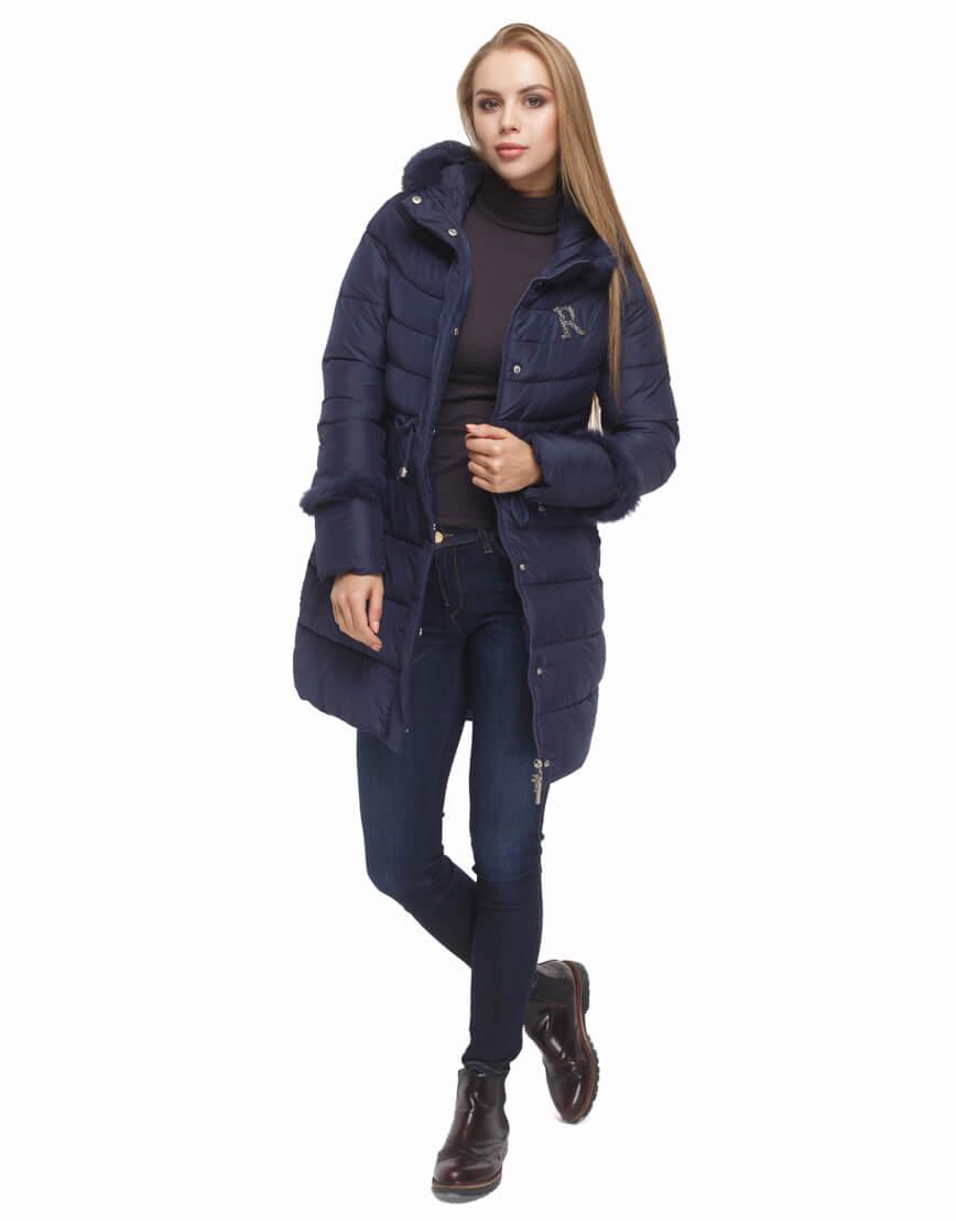 Куртка синего цвета качественная модель 2003 фото 3