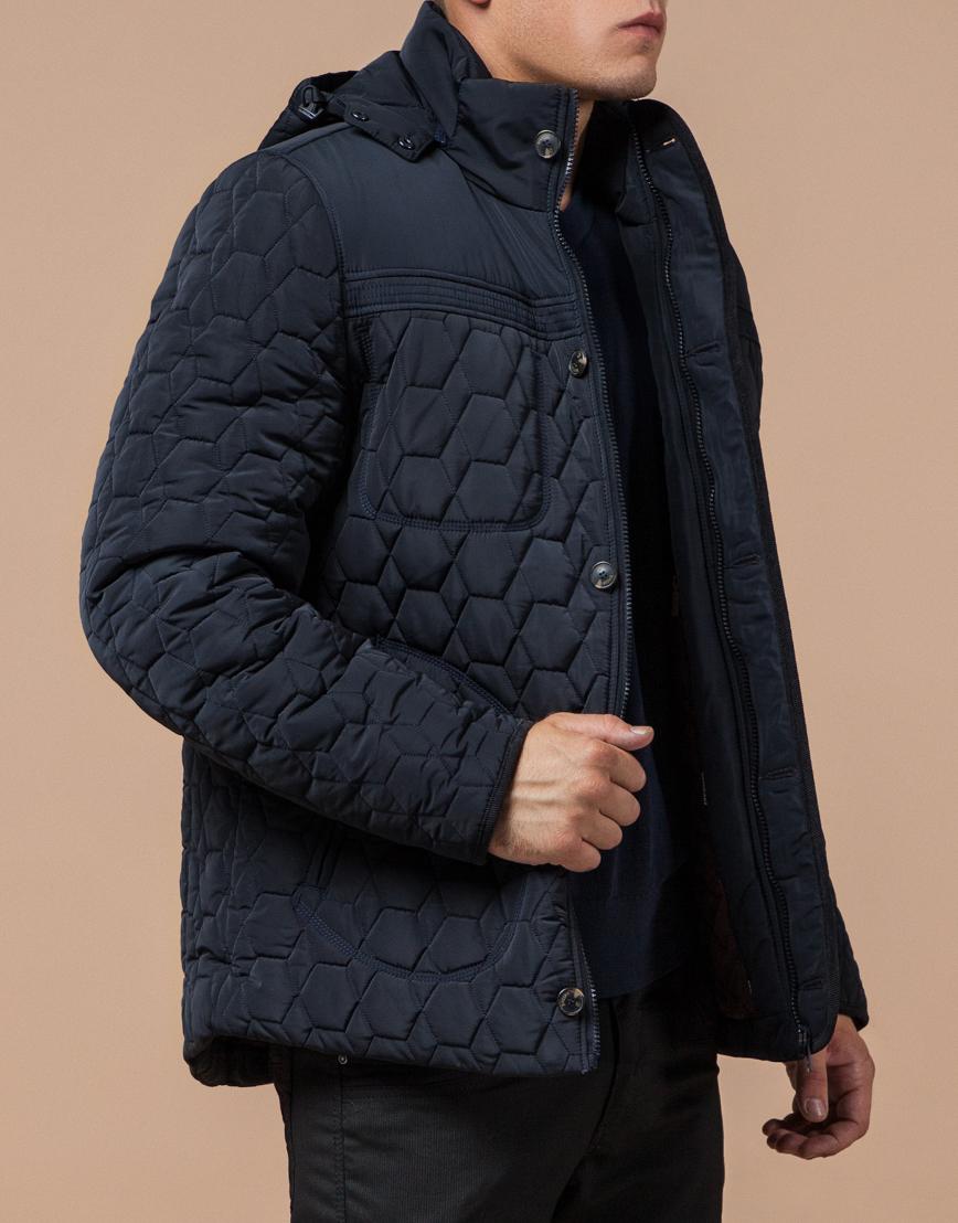 Куртка классическая темно-синяя модель 3570 фото 2
