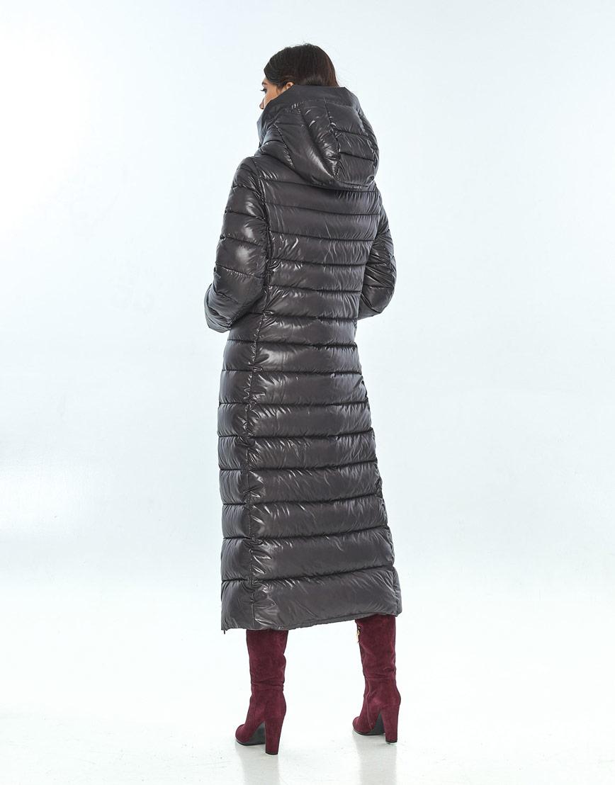 Куртка большого размера фирменная женская Vivacana серая 8320/21 фото 3
