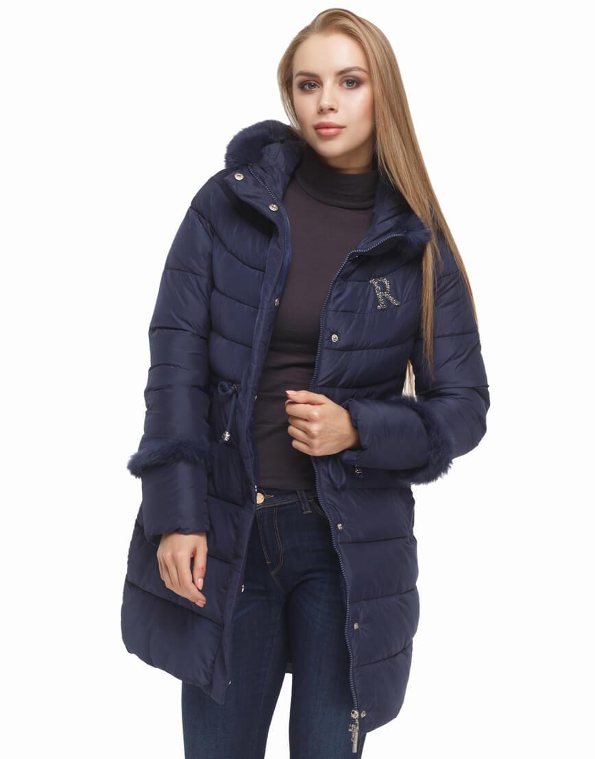 Куртка синего цвета качественная модель 2003 фото 2