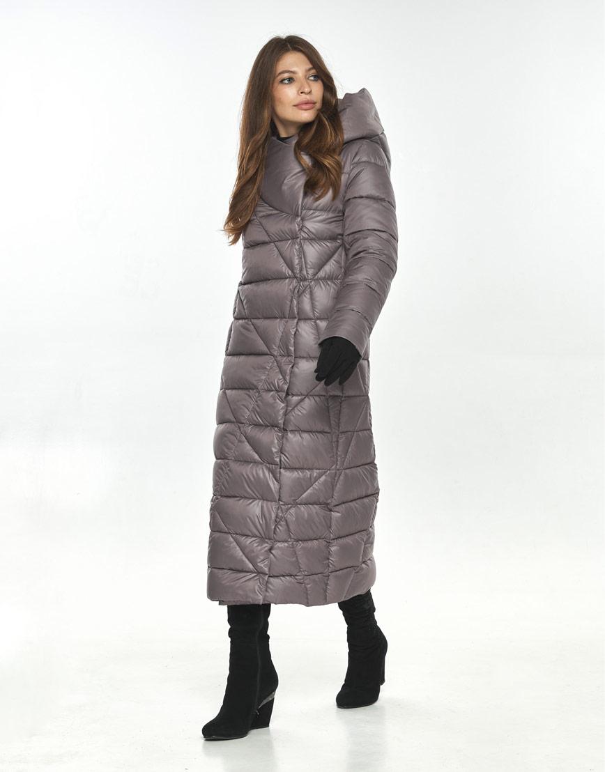 Стильная пудровая куртка большого размера женская Ajento 23795 фото 1