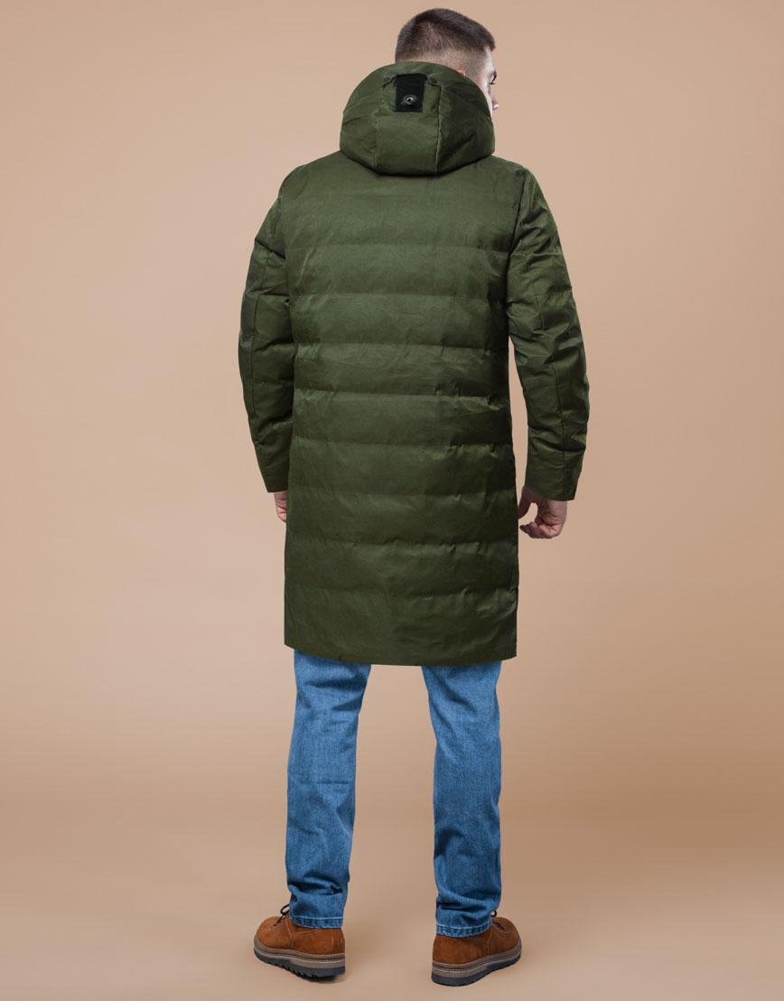 Мужская парка зимняя практичная цвета хаки модель 25800 фото 4