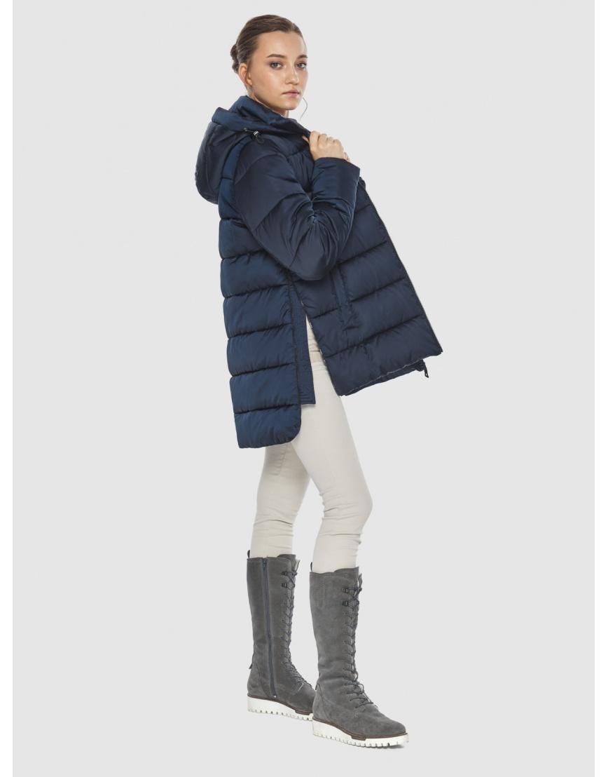 Синяя короткая женская куртка Wild Club 526-85 фото 6