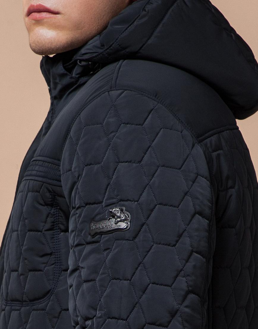 Куртка классическая темно-синяя модель 3570 фото 6