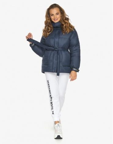 Пуховик куртка Youth темно-синяя молодежная качественная модель 21045 фото 1