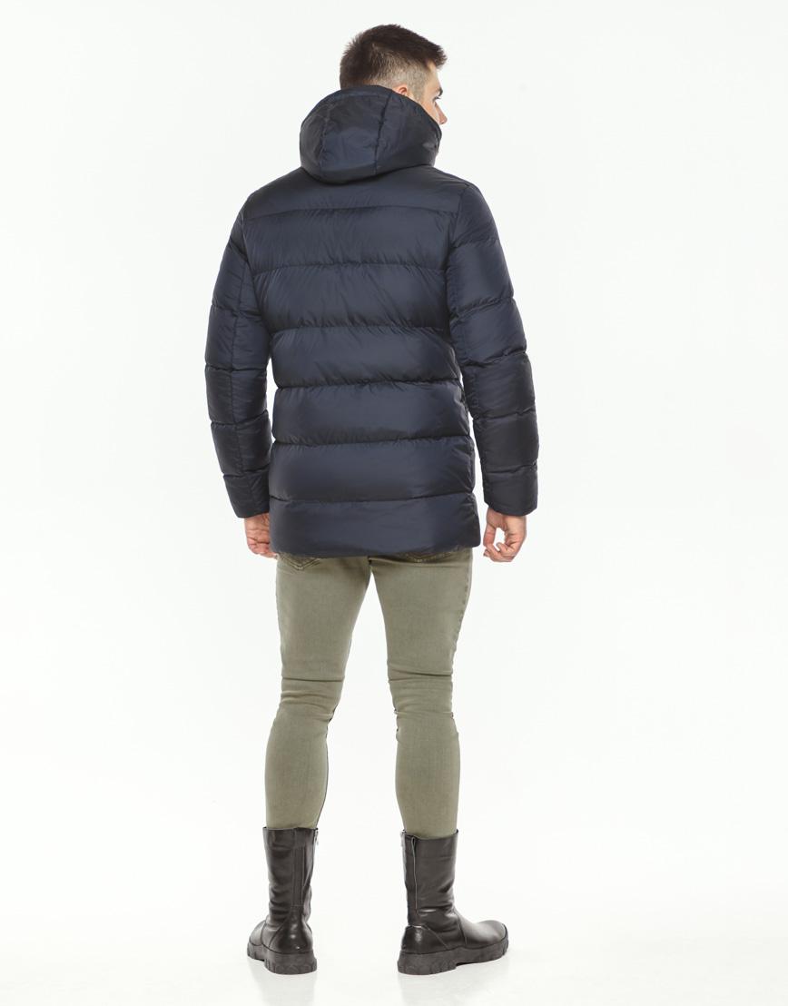 Теплая куртка мужская темно-синего цвета модель 37485 фото 4
