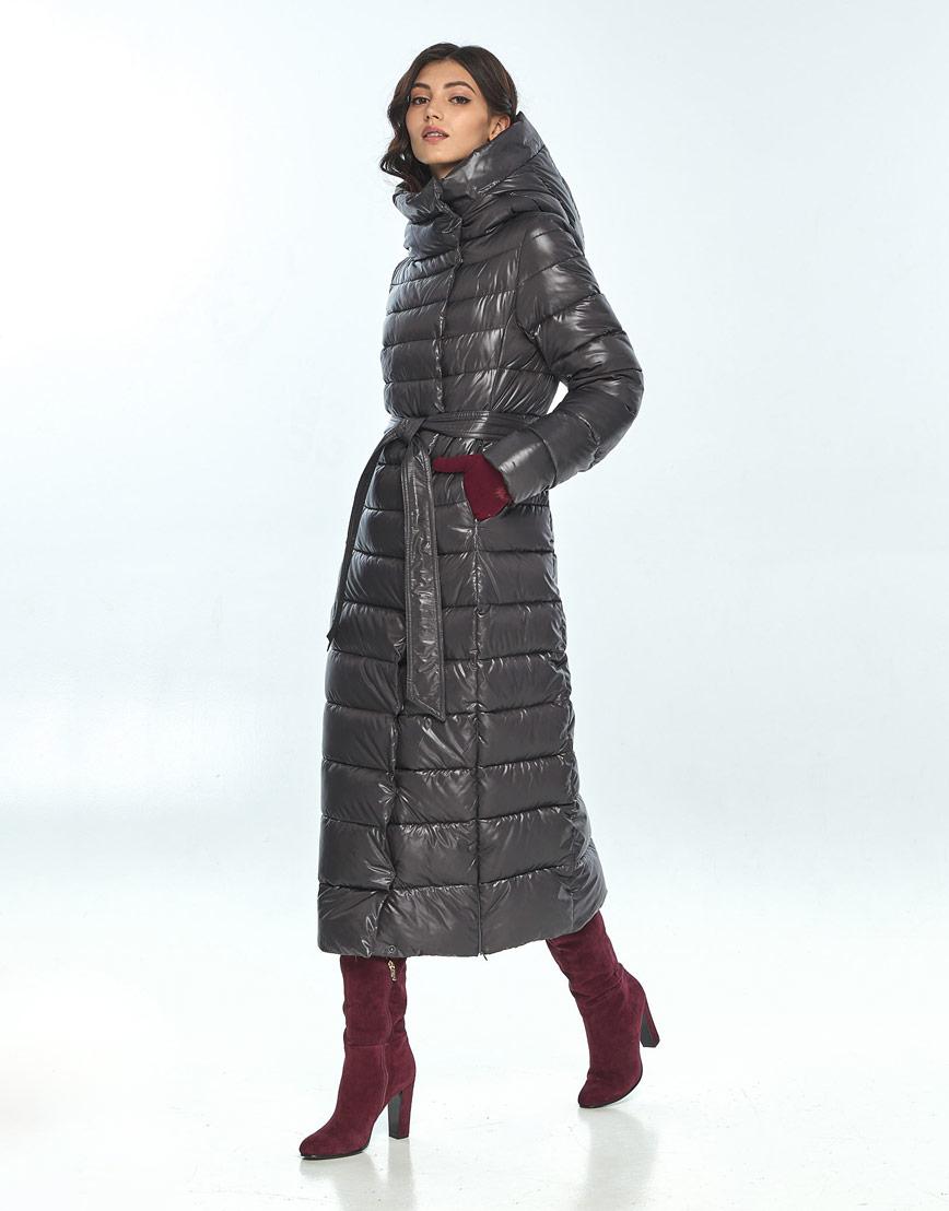 Куртка большого размера фирменная женская Vivacana серая 8320/21 фото 2