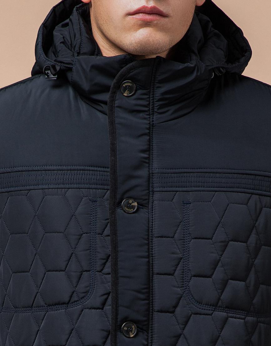 Куртка классическая темно-синяя модель 3570 фото 4