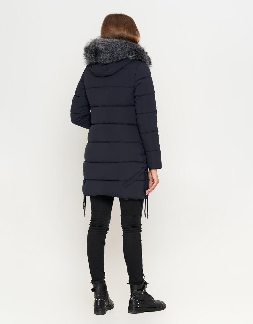 Куртка женская синяя стильного фасона модель 6372