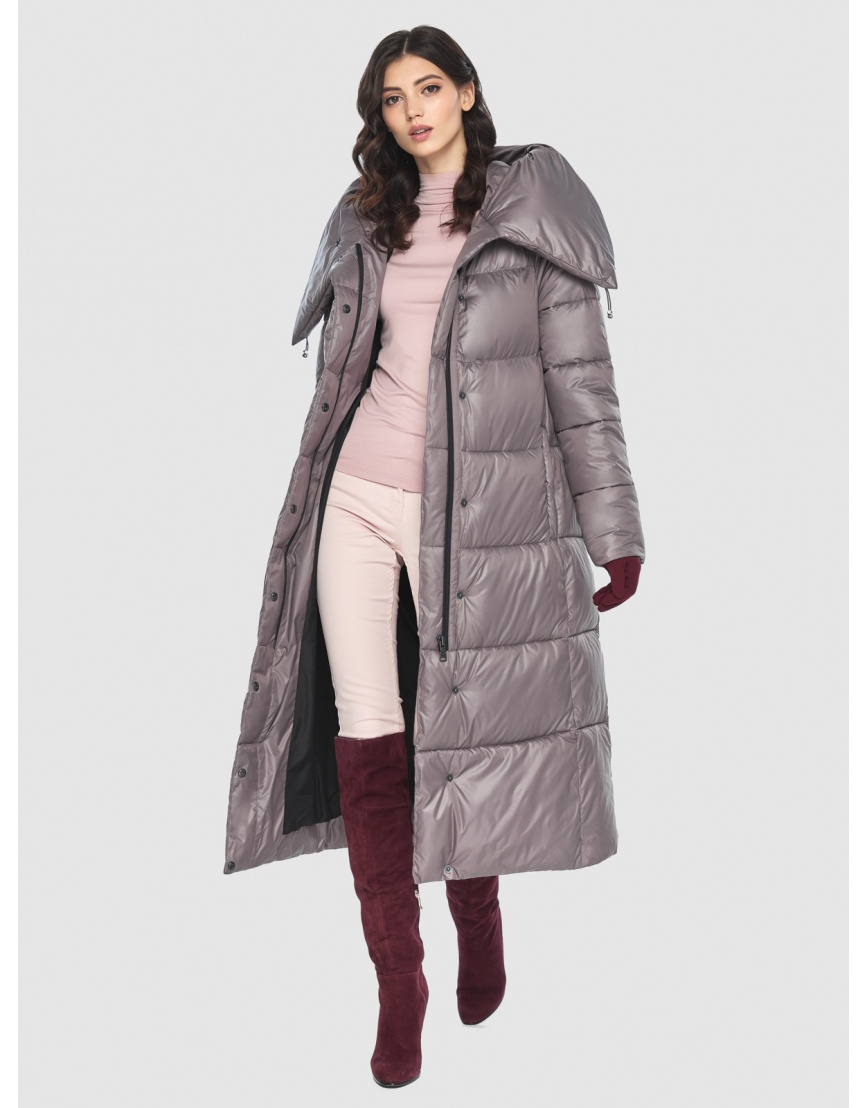 Куртка брендовая пудровая женская Vivacana 9150/21 фото 2