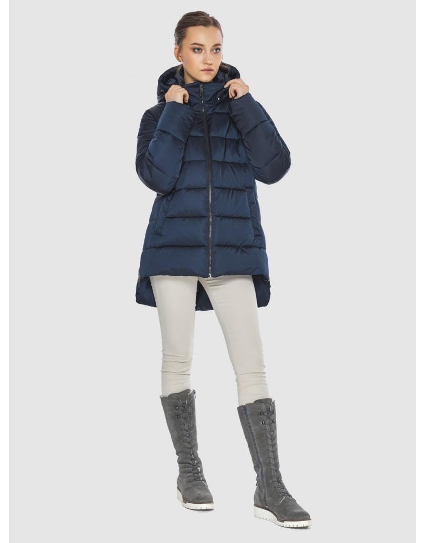 Синяя короткая женская куртка Wild Club 526-85 фото 5