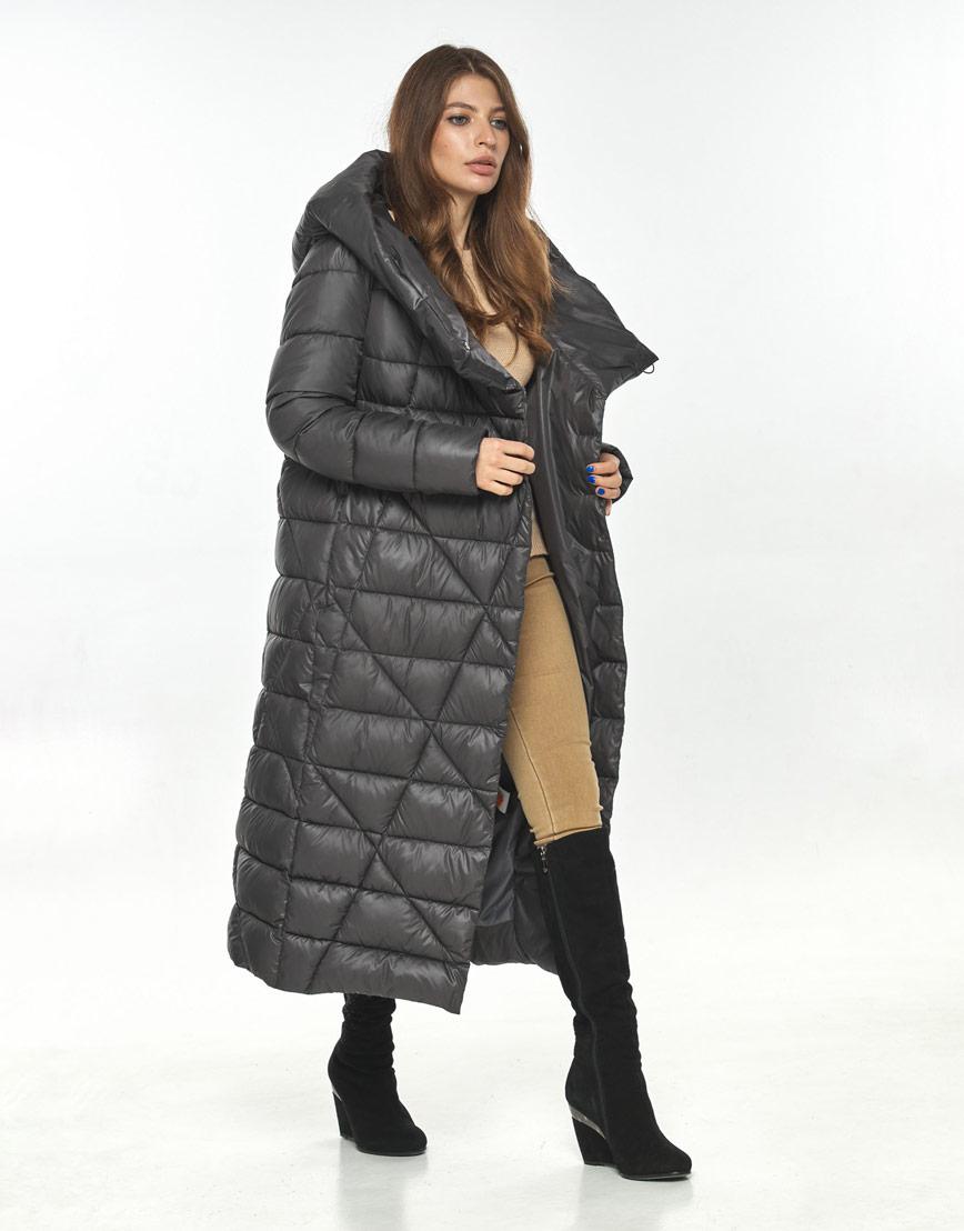 Трендовая женская серая куртка большого размера Ajento 23795 фото 1