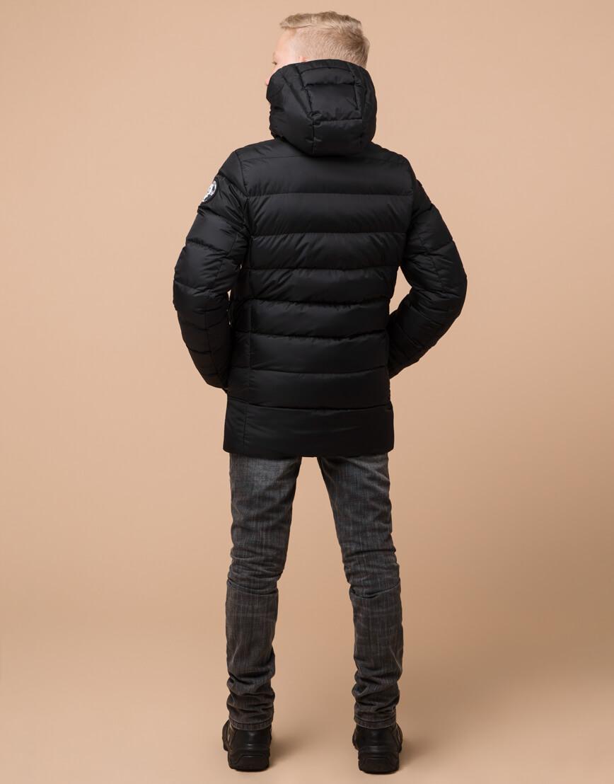 Черная детская куртка модного дизайна модель 65028 фото 4