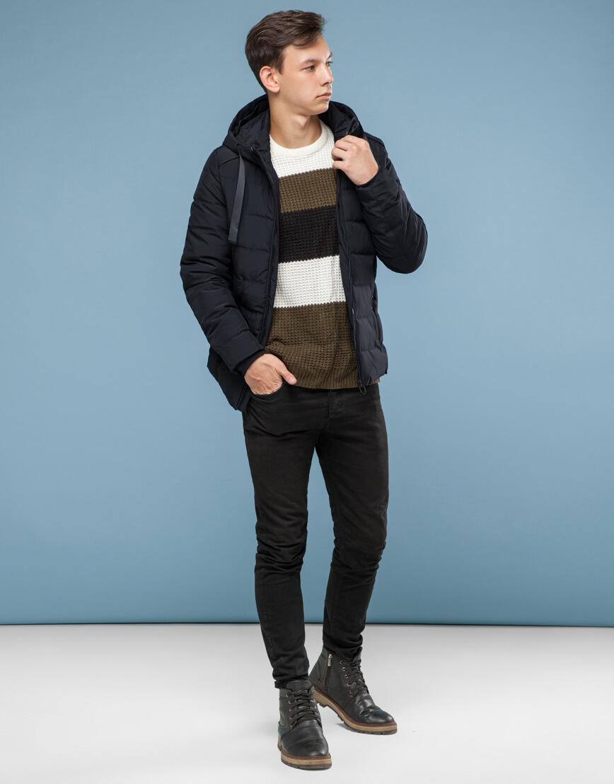 Удобная подростковая черная куртка модель 6008 фото 3
