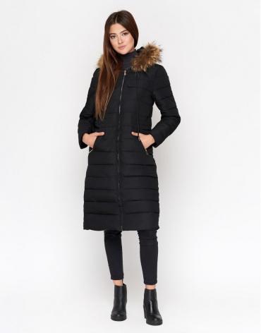 Женская куртка черная удобная модель 9615