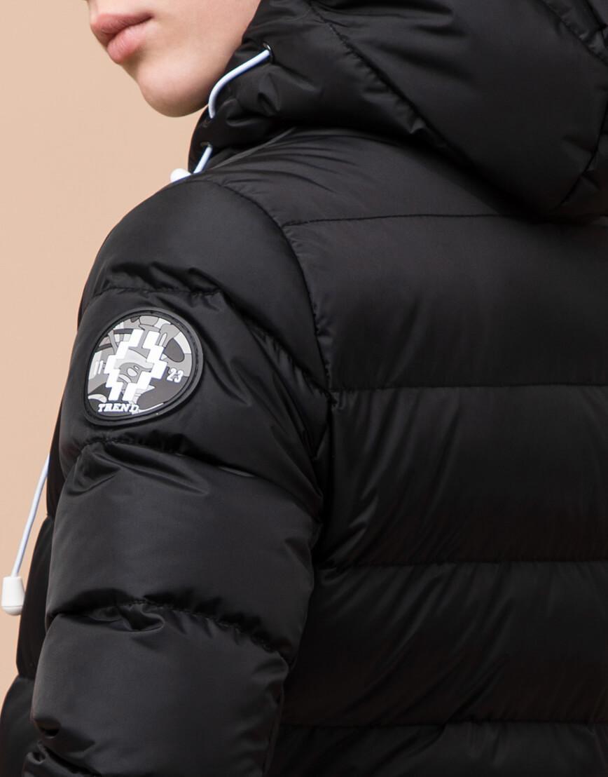 Черная детская куртка модного дизайна модель 65028 фото 7