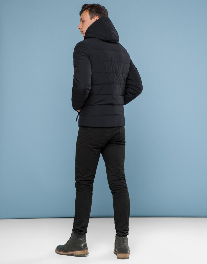 Удобная подростковая черная куртка модель 6008 фото 4