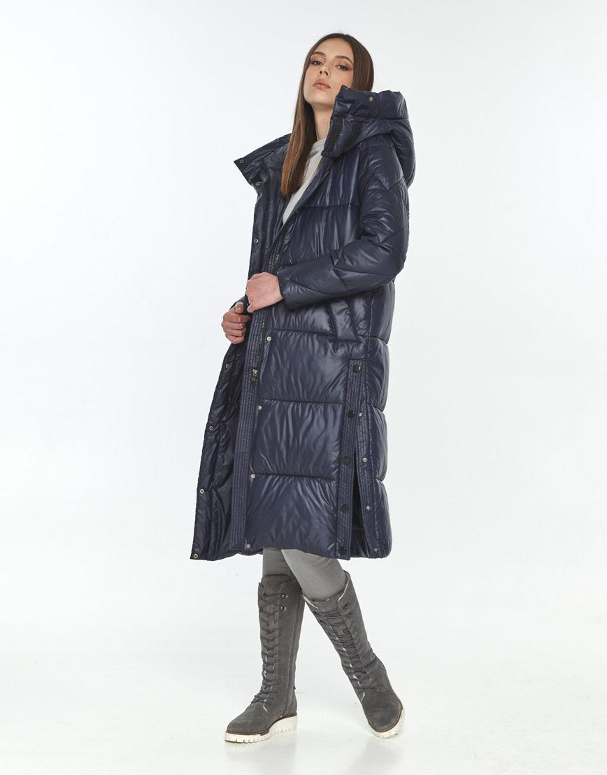 Куртка стильная женская Wild Club синяя зимняя 534-23 фото 2