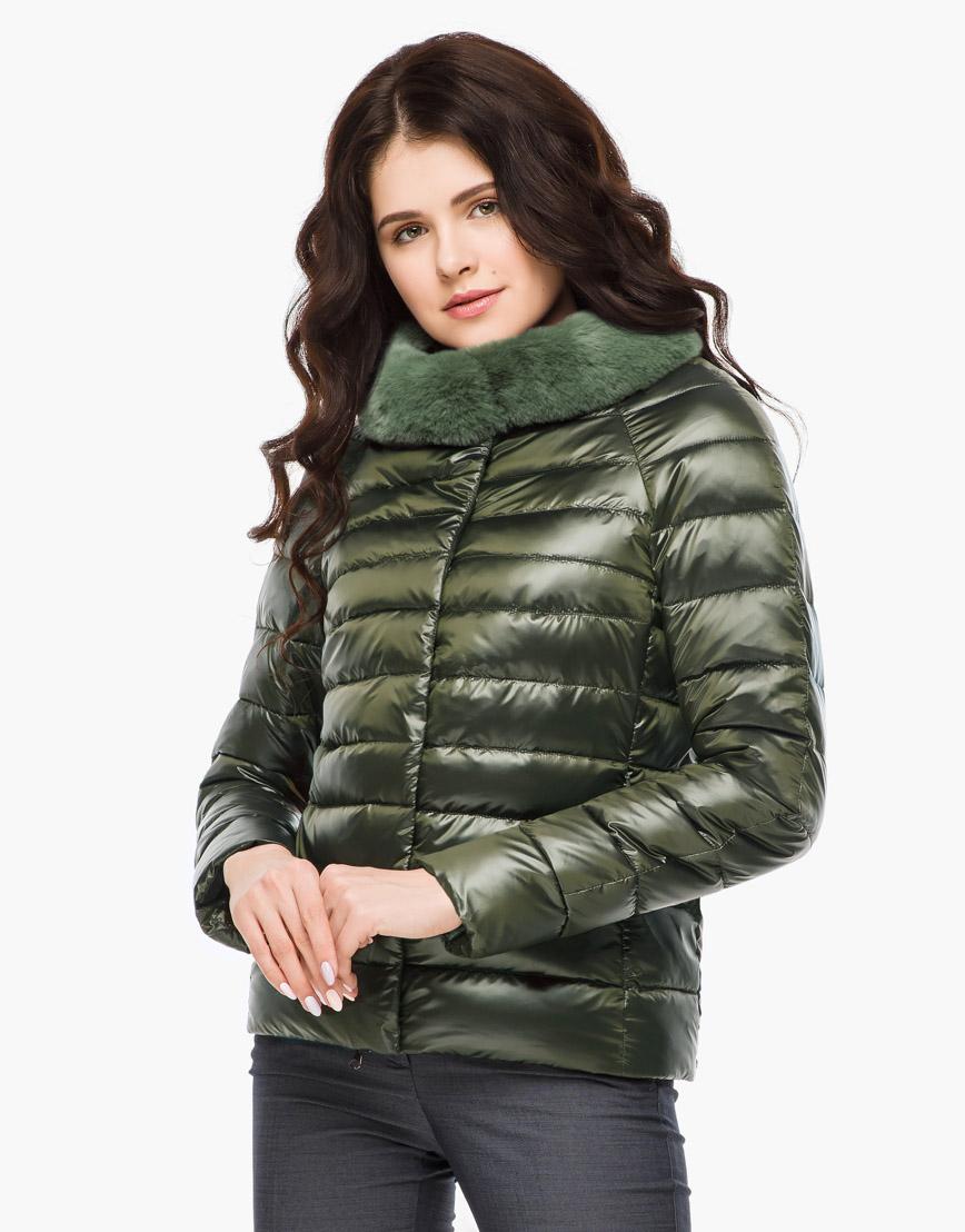 Воздуховик осенне-весенний модный женский Braggart цвет темный хаки модель 40267