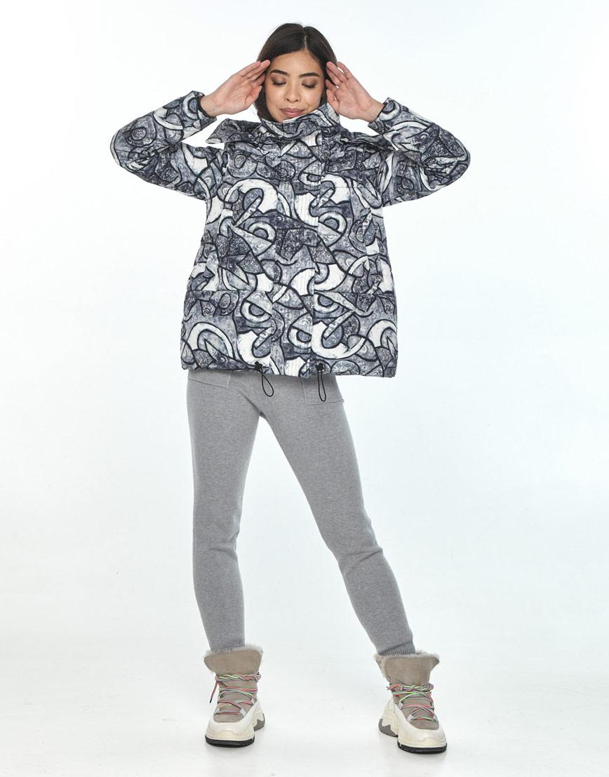 Комфортная зимняя куртка с рисунком женская Moc M6981 фото 1