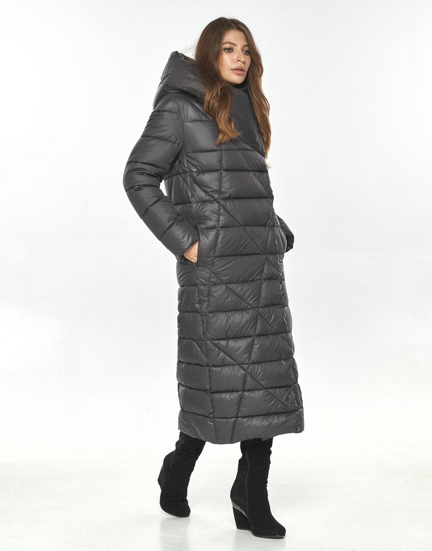 Трендовая женская серая куртка большого размера Ajento 23795 фото 2