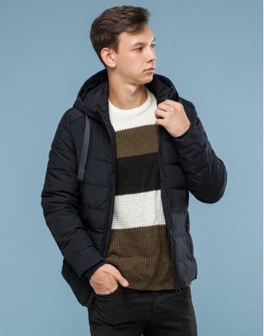 Удобная подростковая черная куртка модель 6008-1 фото 1