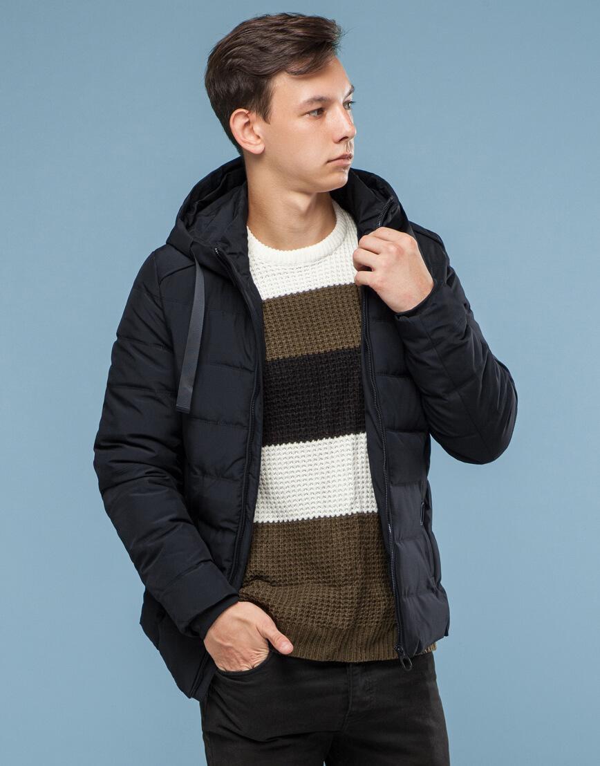 Удобная подростковая черная куртка модель 6008 фото 1
