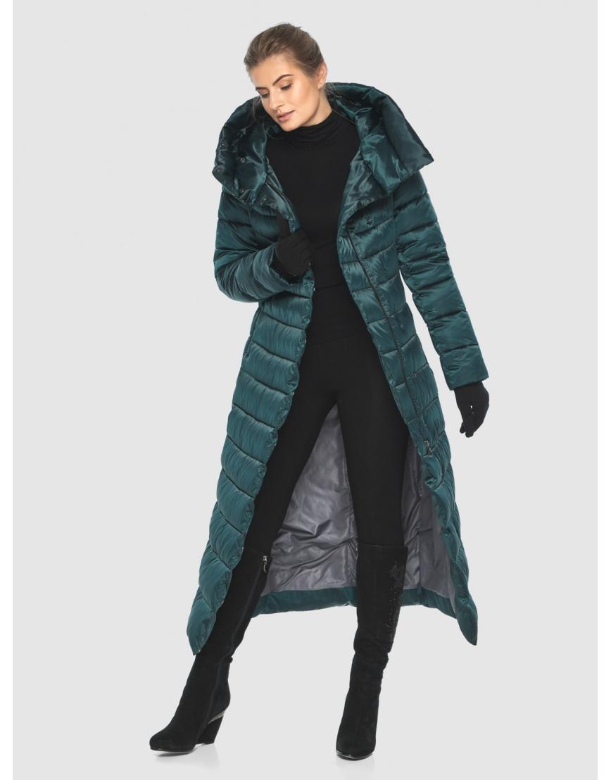 Куртка зелёная с поясом женская Ajento 23320 фото 6