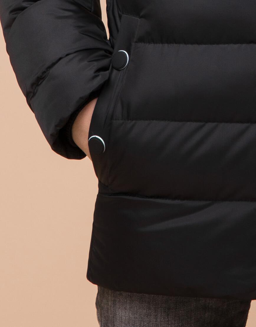 Черная детская куртка модного дизайна модель 65028 фото 6