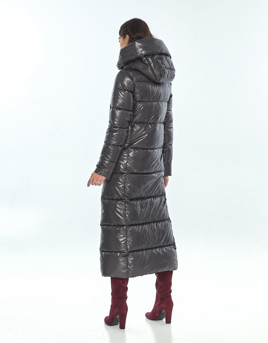 Серая женская стильная куртка Vivacana на зиму 8706/21 фото 3